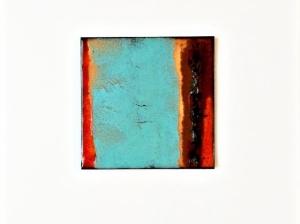 copper enamel tile--LeAnn-- by karen moody