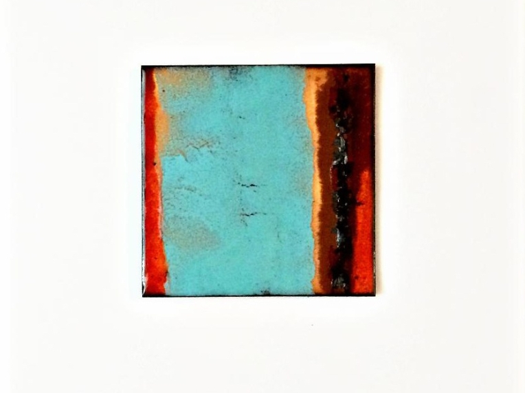 copper enamel tile--LeAnn-- by karen moody