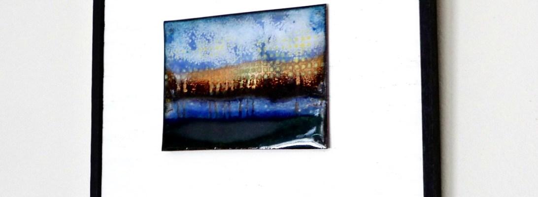 copper enamel Reflection--by karen moody