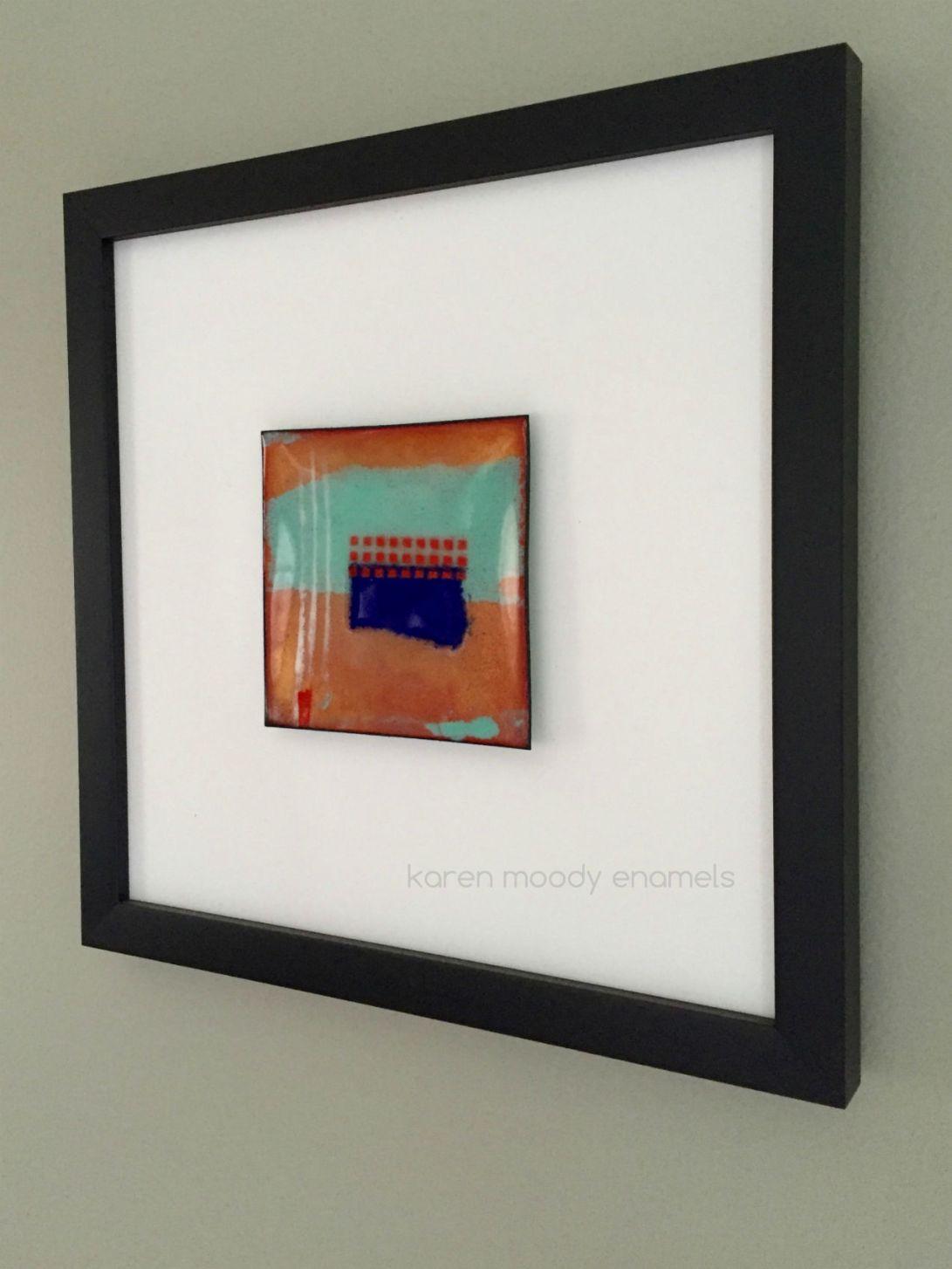 vitreous enamel abstract on copper--Wabasha--by karen moody