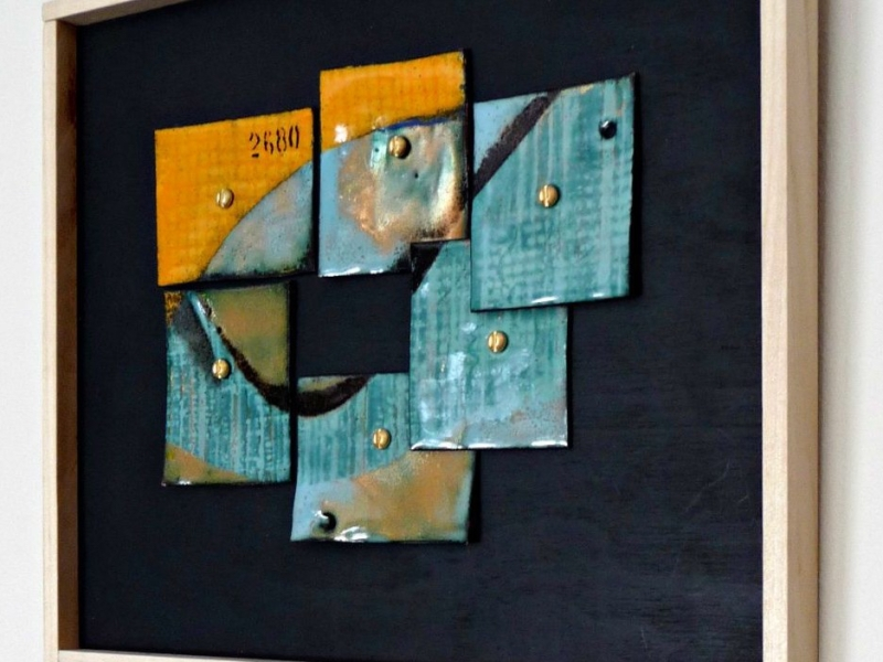 vitreous enamel on recycled copper--2680--by karen moody