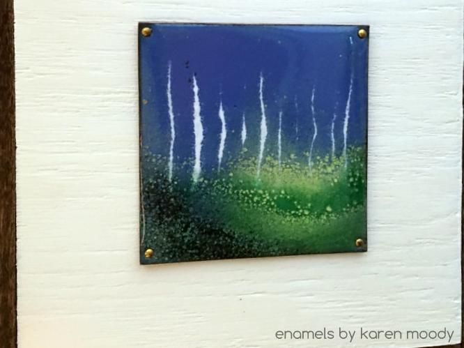 copper enamel wall tile by karen moody