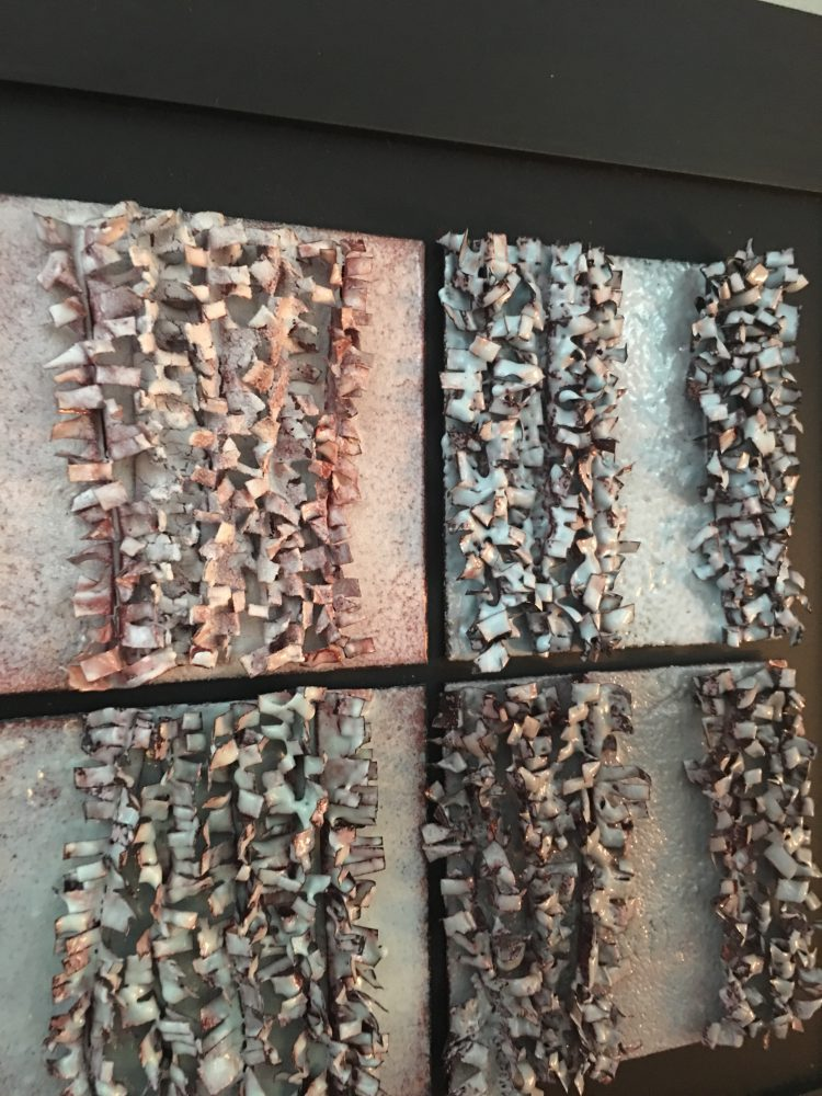 wall art copper enamel textures