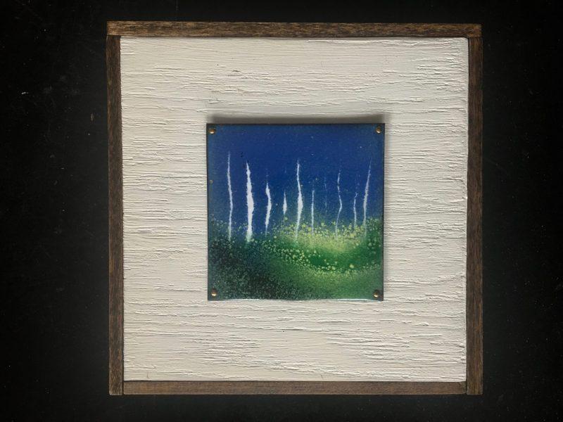Meadow abstract on copper enamel on board