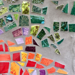 small section of a mosaic by karen moody